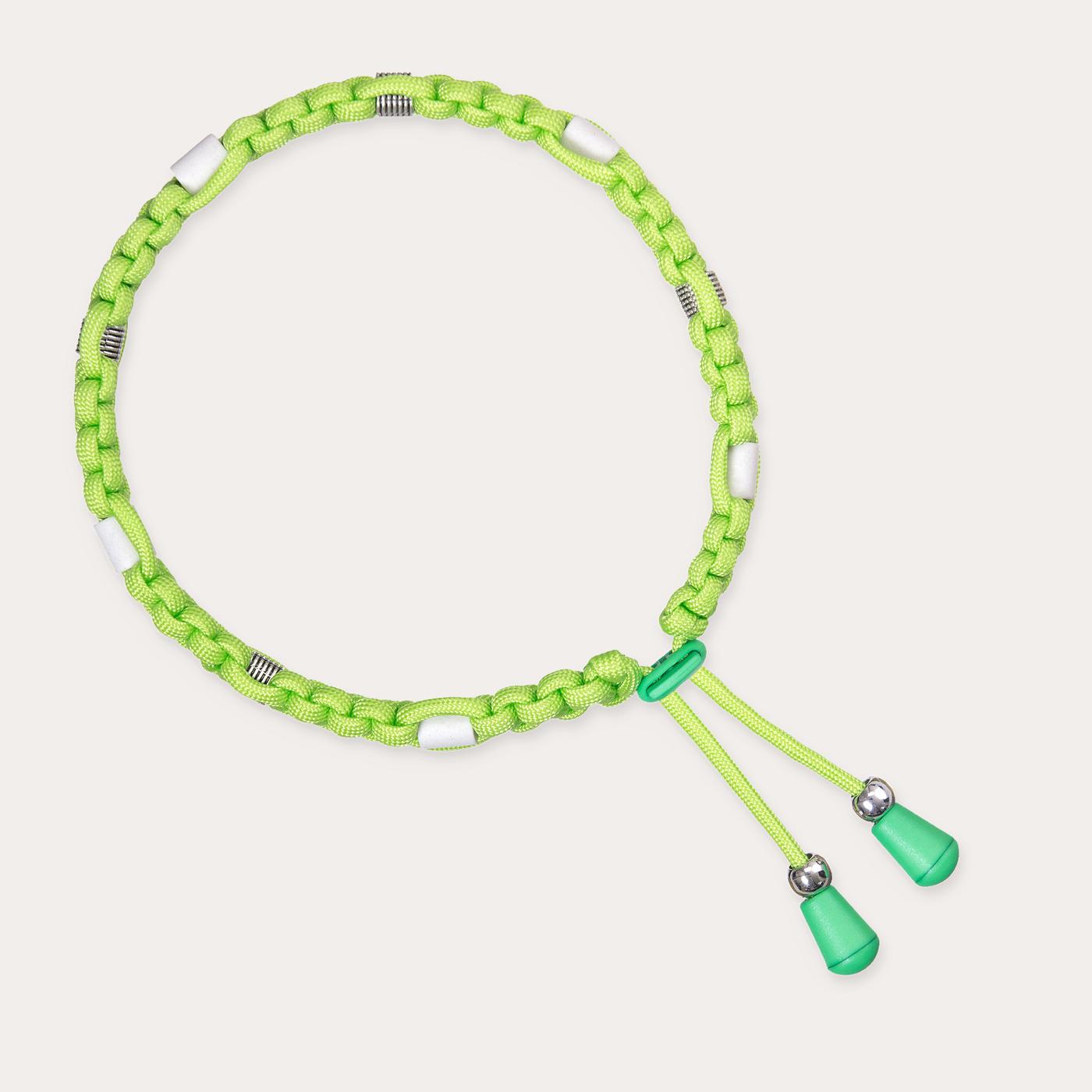 Anti Zeckenband für Hunde in flashigem Neongrün