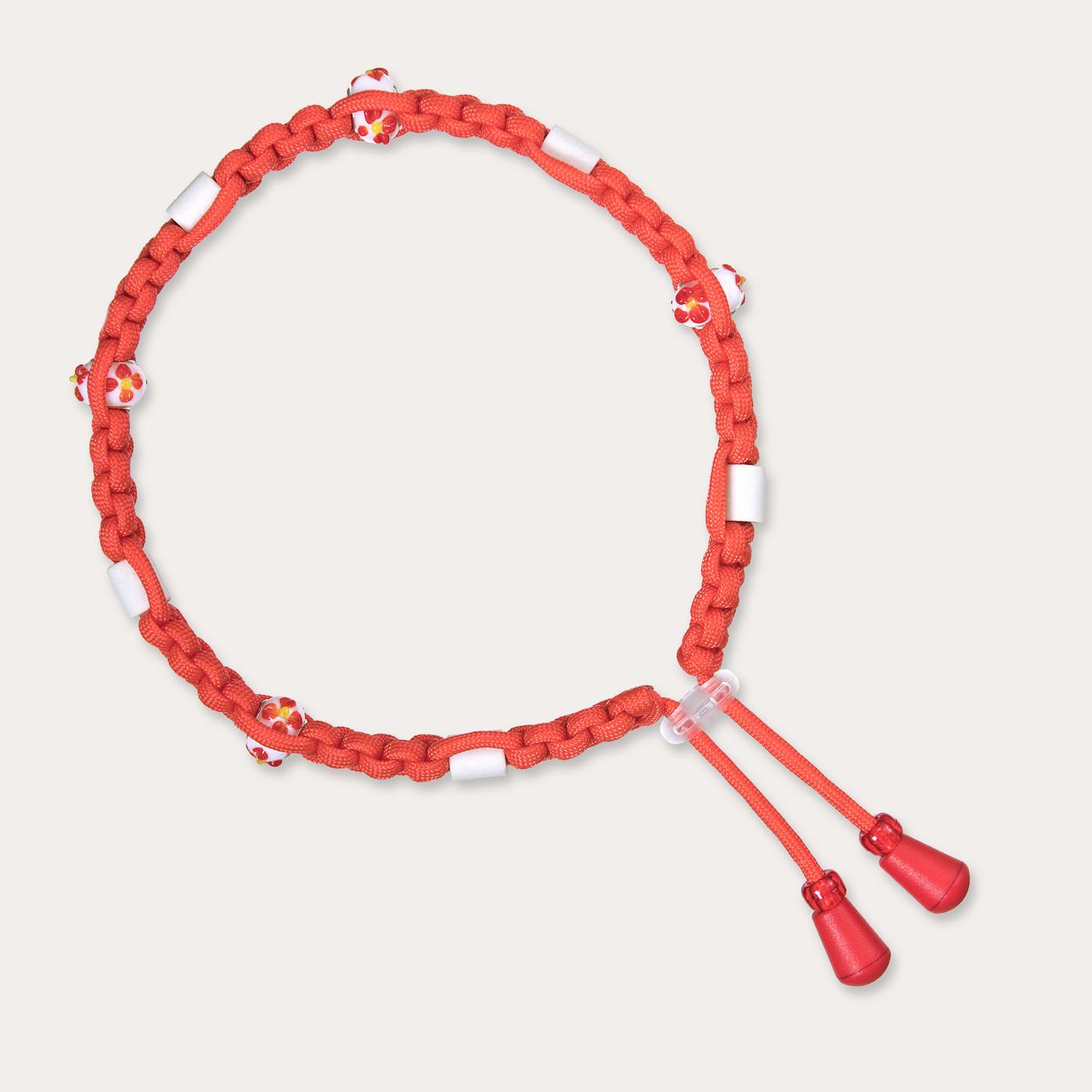 Anti Zeckenband für Hunde in kräftig hellem Rot