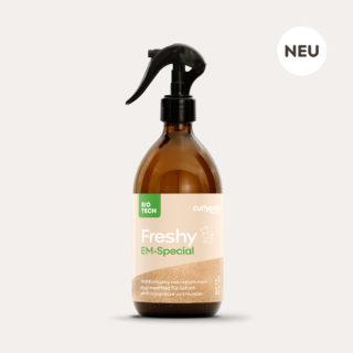 Freshy Dog EM-Special braune 500ml Sprühflasche aus Glas mit Fell Etikett