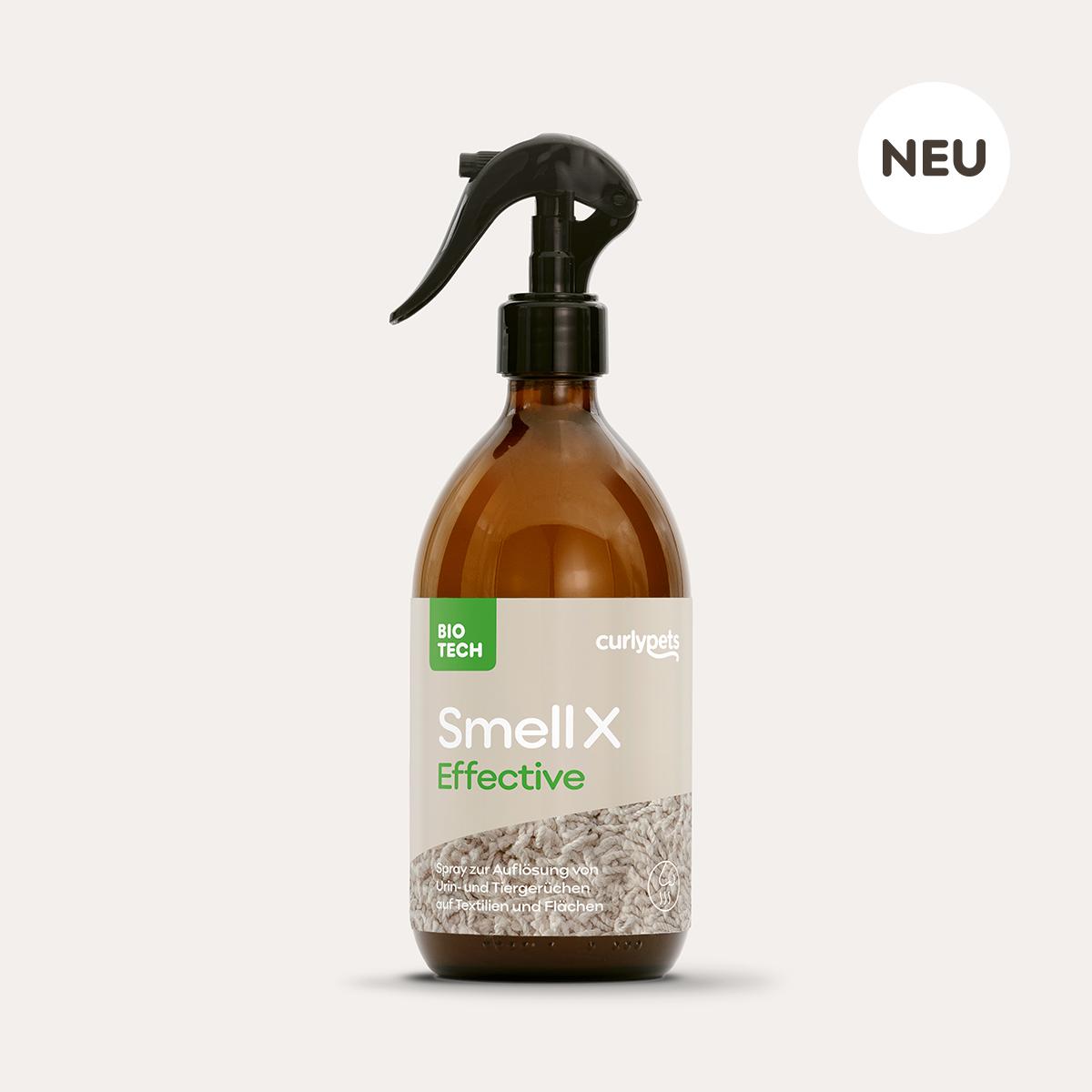 SmellX Effective braune 500ml Sprühflasche aus Glas mit Etikett